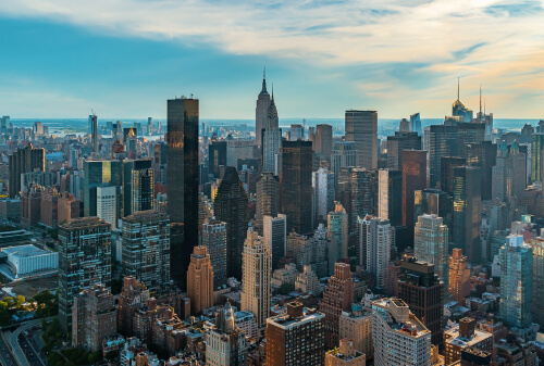 Aerial View On New York City